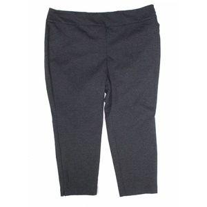 Charter Club 22WP Gray Slim Leg Pull On Pants5AN30